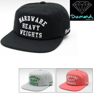 DIAMOND SUPPLY CO HARDWARE HEAVY WEIGHTS SNAPBACK CAP (3色展開) ダイヤモンドサプライ キャップ|pajaboo