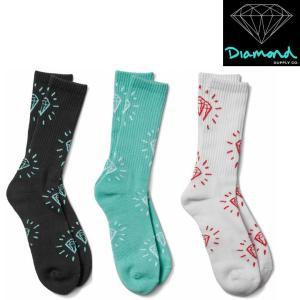 DIAMOND SUPPLY CO OUTSHINE CREW SOCKS ダイヤモンドサプライ ソックス 靴下 スケーターソックス 靴下|pajaboo