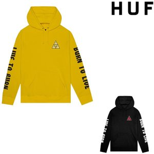 HUF x SPITFIRE TRIANGLE PULLOVER HOODIE (2色展開) ハフ  パーカー フード スウェット コラボレーション スピットファイヤー|pajaboo