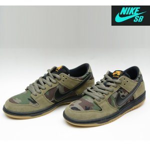 NIKE SB ZOOM DUNK LOW PRO CAMO MEDIUM OLIVE/BLACK GUM ナイキエスビー スニーカー ダンク|pajaboo