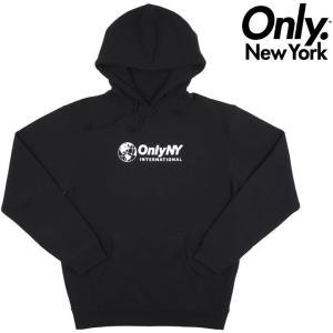 オンリーニューヨーク パーカー ONLY NY INTERNATIONAL HOODIE プルオーバーパーカ スウェットフード ONLY NEW YORK|pajaboo