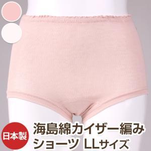 海島綿カイザー編みショーツ(全2色 LLサイズ 日本製 bi005|pajamakobo-lovely