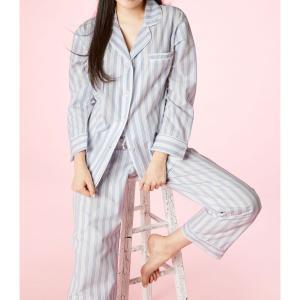 パジャマ レディース ブランド 前開き 長袖 綿 BedHead Pajamas ベッドヘッドパジャマズ Periwinkle Maypole|pajamas