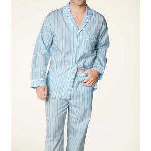 パジャマ メンズ ブランド 前開き 長袖 綿 BedHead Pajamas ベッドヘッドパジャマズ Turquoise Stripe|pajamas
