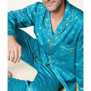 パジャマ メンズ ブランド 前開き 長袖 綿 BedHead Pajamas ベッドヘッドパジャマズ Peacock Queen Bee|pajamas