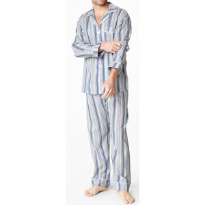 パジャマ メンズ ブランド 前開き 長袖 綿 BedHead Pajamas ベッドヘッドパジャマズ Bungalow Stripe Blue|pajamas