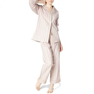 レディースパジャマ 長袖 コットン BedHead Pajamas Pink Rail Road Stripe|pajamas