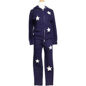 ルームウェア レディース ブランド セット セットアップ 長袖 パイル地 ネイビー e.si エトワールシーニュ|pajamas