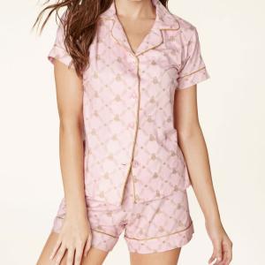 パジャマ レディース ブランド 前開き 半袖 BedHead Pajamas ベッドヘッドパジャマズ Pink Queen Bee|pajamas