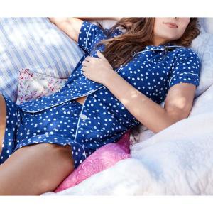 パジャマ レディース ブランド 前開き 半袖 ストレッチ BedHead Pajamas ベッドヘッドパジャマズ Demi Dot|pajamas