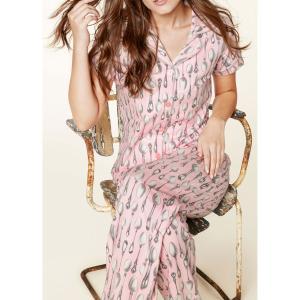 パジャマ レディース ブランド 前開き 半袖 ストレッチ BedHead Pajamas ベッドヘッドパジャマズ Pink Spooning|pajamas