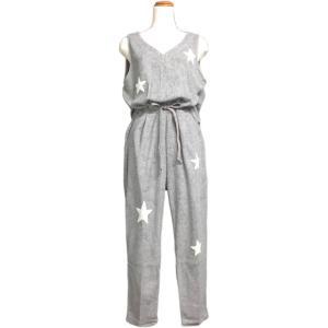 ルームウェア レディース ブランド オールインワン つなぎ パイル地 グレー e.si エトワールシーニュ|pajamas