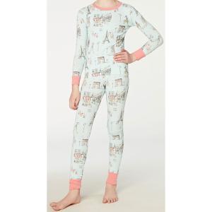 パジャマ キッズ ブランド 長袖 90 95 100 110 120 130 BedHead Pajamas ベッドヘッドパジャマズ Blue Cafe Du Paris|pajamas