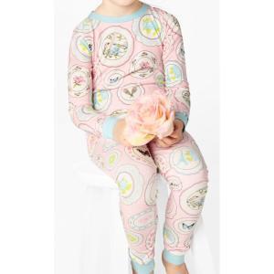パジャマ キッズ ブランド 長袖 90 95 100 110 120 130 BedHead Pajamas ベッドヘッドパジャマズ Pink Plat Du Jour|pajamas