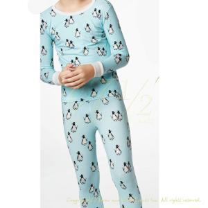 パジャマ キッズ ブランド 長袖 140 150 160 BedHead Pajamas ベッドヘッドパジャマズ Penguin Blue|pajamas
