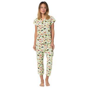 パジャマ レディース ブランド 前開き 綿 The Cat's Pajamas Sushi Wasabi pajamas