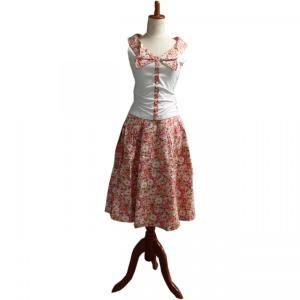 レトロ Tブラウス スウィング スカート セット 50年代風 Miss Candyfloss Hope Day|pajamas