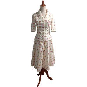 レトロ ブラウス 全円スカート セット 50年代風 Miss Candyfloss Bobby Ivy|pajamas