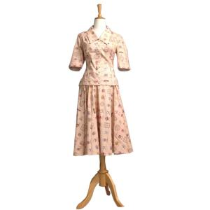 レトロ ブラウス 全円スカート 50年代風 Bobby Tanika|pajamas