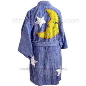ガウン ローブ レディース プラッシュ シェニール キモノローブ Canyon Group Moon & Stars Bedroom Blue|pajamas