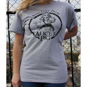 Tシャツ ロゴt レディース 半袖 グレー Alice's Pig アリスズピッグ BOYFRIEND TEE IN GREY|pajamas