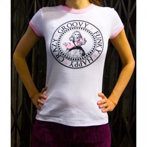 Tシャツ ロゴt レディース 半袖 ホワイト 白 Alice's Pig アリスズピッグ FESTIVAL TEE|pajamas