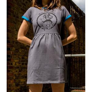 ワンピース レディース オーガニックコットン  半袖 グレー Alice's Pig アリスズピッグLEXI LOW Grey|pajamas