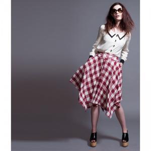 スカート レディース Alice's Pig アリスズピッグ Darcey's Django Skirt Red|pajamas