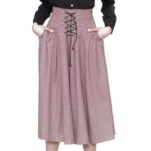 クラシカルな編み上げスカート Alice's Pig アリスズピッグ Lainey's Lacing pajamas