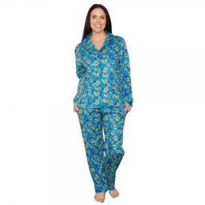 パジャマ レディース bSoft バンブー フランネル Peacock|pajamas