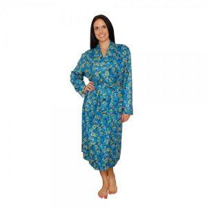 ガウン ローブ レディース bSoft バンブー フランネル Peacock|pajamas