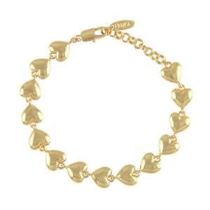 ブレスレット レディース ブランド Lucky Charm Heart Bracelet The Lover ゴールドコート Ettika エティカ|pajamas