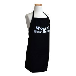 子供エプロン Flirty Aprons World Best Helper Black|pajamas