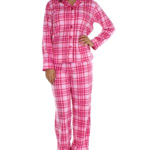 レディースパジャマ あったか Frankie&Johnny Pink on Pink Plaid|pajamas