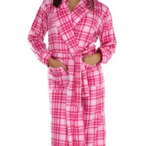 レディ−スガウン ローブ あったか Frankie&Johnny Pink on Pink Plaid|pajamas