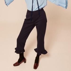 クロップドパンツ レディース ネイビー KLING クリング|pajamas