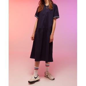 ワンピース レディース 半袖 コットン 春 春物 夏 ネイビー KLING クリング|pajamas