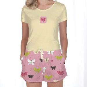 Tシャツ&ショートパンツセット Munki Munki Butterflies|pajamas