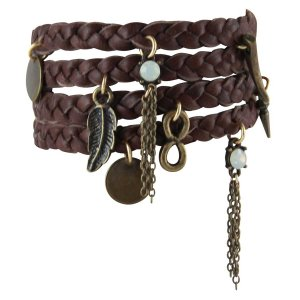 ブレスレット レディース ブランド Buffalo Stance Wrap Bracelet 革 レザー Ettika エティカ|pajamas