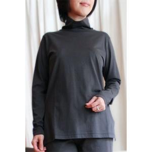 Tシャツ レディース 長袖 タートルネック・ハイネック・ボトルネック 無地 綿100%/感動の肌触り・GIZA45(ギザ45)日本製|pajamaya