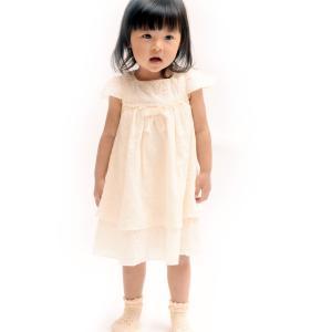ベビー服(子供服) ワンピース 80cm/90cm 女の子用 春夏 半袖/オーガニックコットン/ガー...