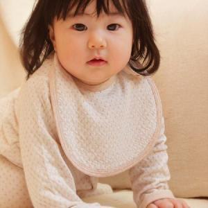 スタイ(よだれかけ) 女の子 男の子 オーガニックコットン 水玉リバーニットがかわいいベビー用品 日本製|pajamaya