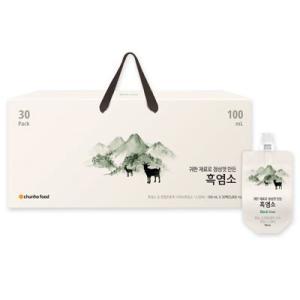 『チョンホ食品』黒山羊一匹|黒ヤギエキス(100ml×30袋) 気力の補強 滋養強壮 更年期 健康補助食品 韓国食品|paldo