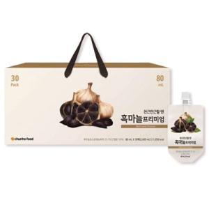 『チョンホ食品』黒にんにくプレミアム(80ml×30個) 黒にんにく 濃縮液 健康補助食品 韓国食品|paldo