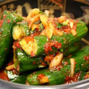 『自家製』きゅうりキムチ・辛口(500g) おかず 惣菜 キムチ paldo