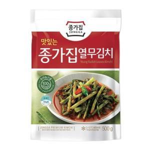 【当店おすすめ】『宗家』 ヨルムキムチ | なかぬきキムチ ・ 大根葉 (500g) チョンガ 韓国キムチ 韓国食材 韓国食品|paldo