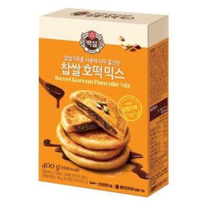 『CJ』白雪 餅米ホットクミックス(400g・約8枚分) ホットック ホットッ おやつ お餅 韓国お菓子 韓国食品|paldo
