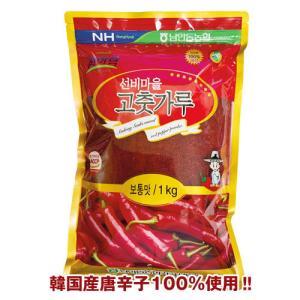 『ビッカルチャン』コチュカル(純韓国産唐辛子粉)|キムチ用・中粗挽き(中辛・1kg)[韓国調味料][韓国食材]|paldo