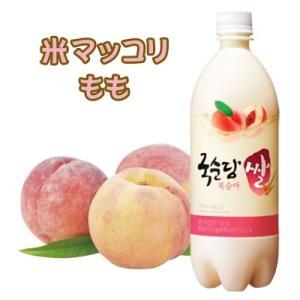 『麹醇堂』米マッコリ 桃味 (750ml)| リキュール(発酵酒) お酒 発酵酒 伝統酒 韓国お酒|paldo