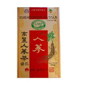 【当店おすすめ】高麗人参茶GOLD・粉末状(3gx100包・紙箱) 粉末茶 健康茶 伝統茶 韓国お茶 韓国飲み物 韓国食品 風邪予防対策 paldo